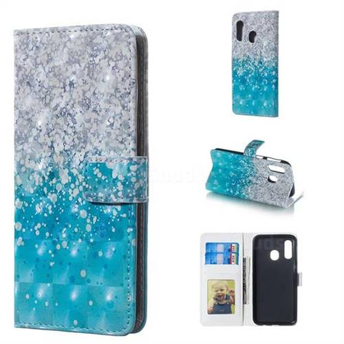 Sea Sand 3D Painted Leather Phone Wallet Case for Samsung Galaxy A40