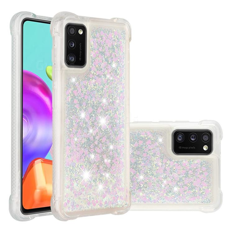 Dynamic Liquid Glitter Sand Quicksand Star TPU Case for Samsung Galaxy A41 - Pink