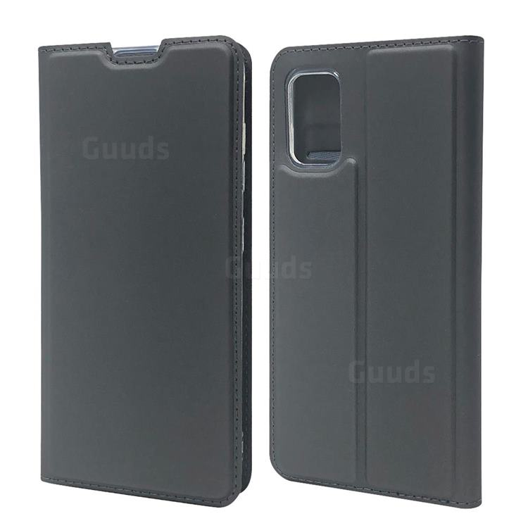 Ultra Slim Card Magnetic Automatic Suction Leather Wallet Case for Samsung Galaxy A41 - Star Grey