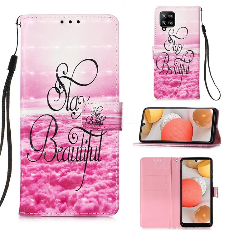 Beautiful 3D Painted Leather Wallet Case for Samsung Galaxy A42 5G