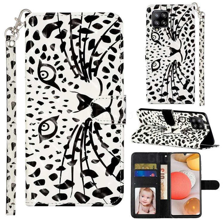 Leopard Panther 3D Leather Phone Holster Wallet Case for Samsung Galaxy A42 5G