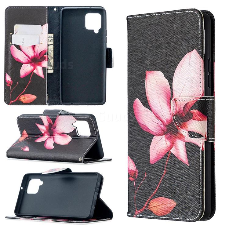 Lotus Flower Leather Wallet Case for Samsung Galaxy A42 5G
