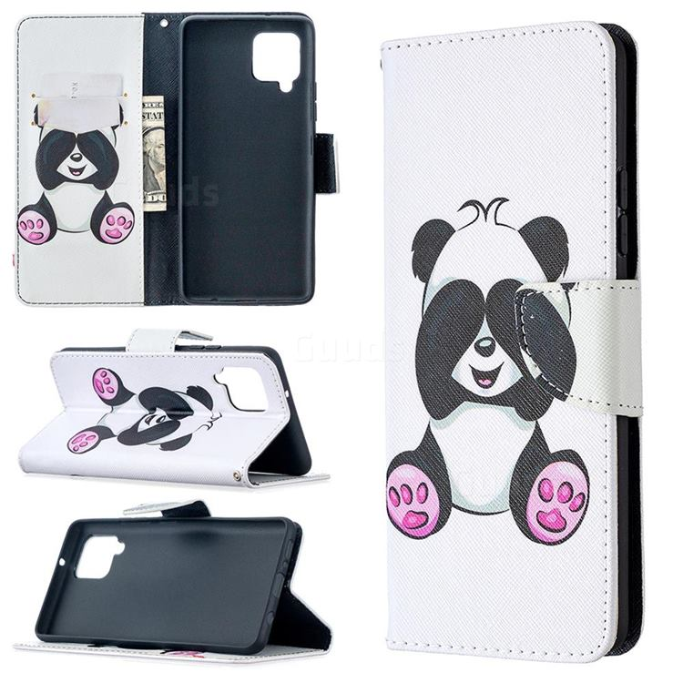 Lovely Panda Leather Wallet Case for Samsung Galaxy A42 5G