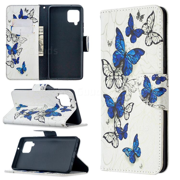 Flying Butterflies Leather Wallet Case for Samsung Galaxy A42 5G