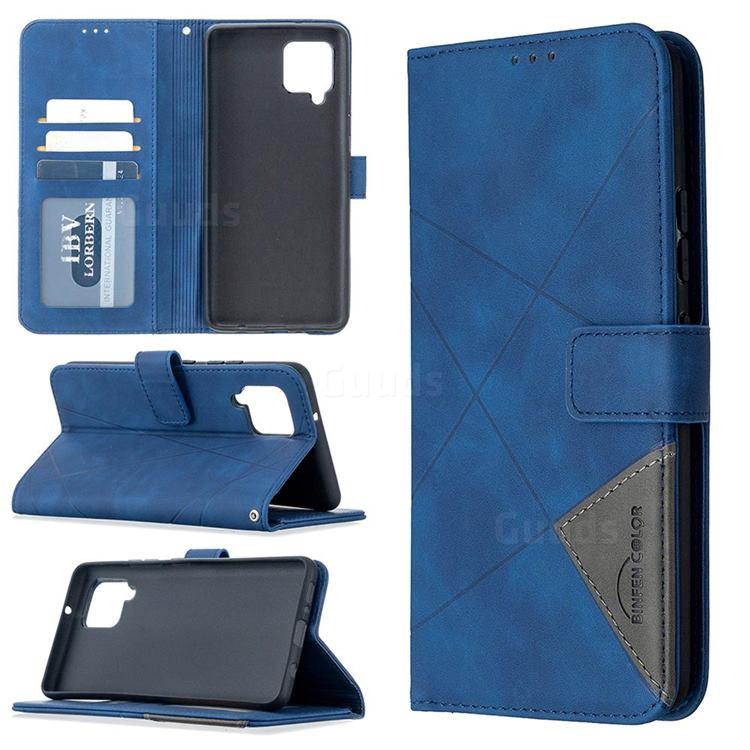 Binfen Color BF05 Prismatic Slim Wallet Flip Cover for Samsung Galaxy A42 5G - Blue