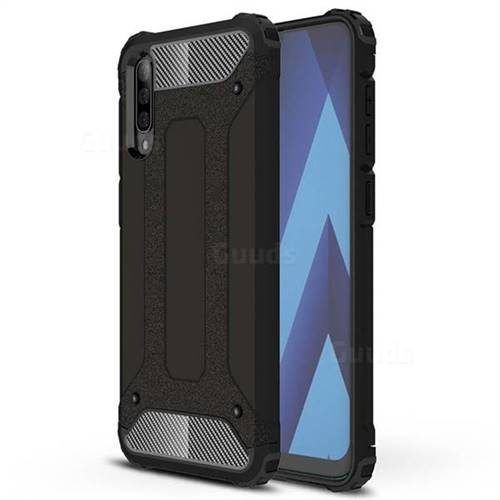 King Kong Armor Premium Shockproof Dual Layer Rugged Hard Cover for Samsung Galaxy A50 - Black Gold