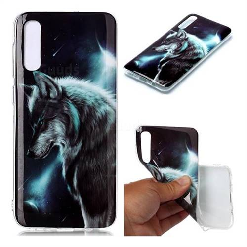 Fierce Wolf Soft TPU Cell Phone Back Cover for Samsung Galaxy A50