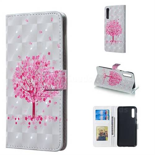 Sakura Flower Tree 3D Painted Leather Phone Wallet Case for Samsung Galaxy A50