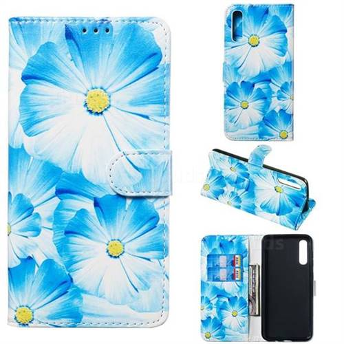 Orchid Flower PU Leather Wallet Case for Samsung Galaxy A50