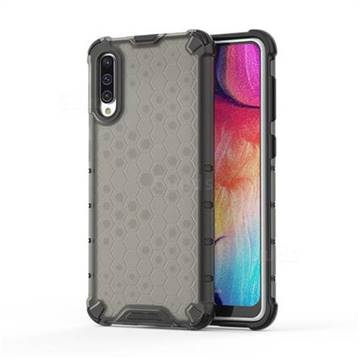 Honeycomb TPU + PC Hybrid Armor Shockproof Case Cover for Samsung Galaxy A50s - Gray