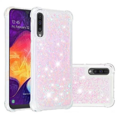 Dynamic Liquid Glitter Sand Quicksand Star TPU Case for Samsung Galaxy A50s - Pink