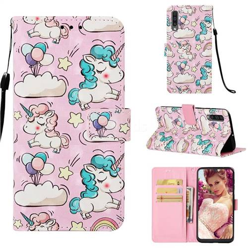 Angel Pony 3D Painted Leather Wallet Case for Samsung Galaxy A50s
