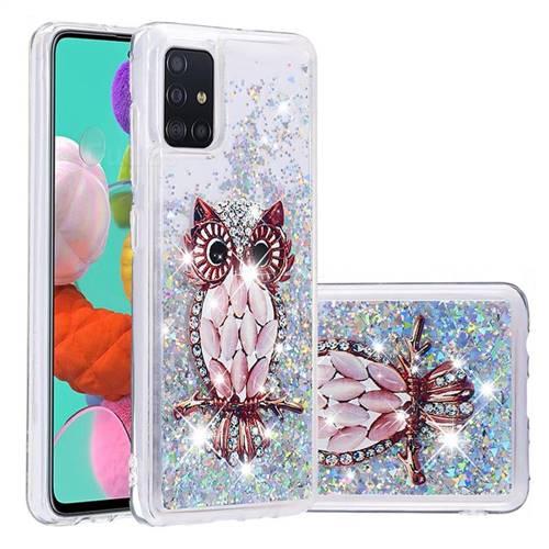 Seashell Owl Dynamic Liquid Glitter Quicksand Soft TPU Case for Samsung Galaxy A51