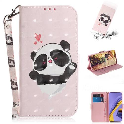 Heart Cat 3D Painted Leather Wallet Phone Case for Samsung Galaxy A51