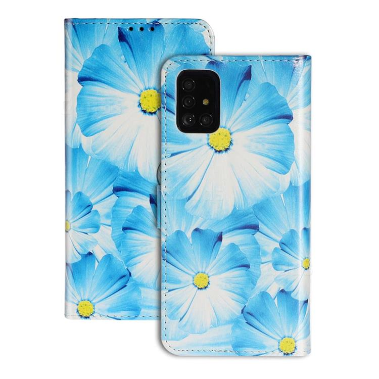 Orchid Flower PU Leather Wallet Case for Samsung Galaxy A51
