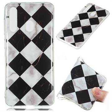 Black and White Matching Soft TPU Marble Pattern Phone Case for Samsung Galaxy A60