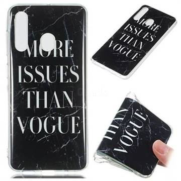 Stylish Black Soft TPU Marble Pattern Phone Case for Samsung Galaxy A60