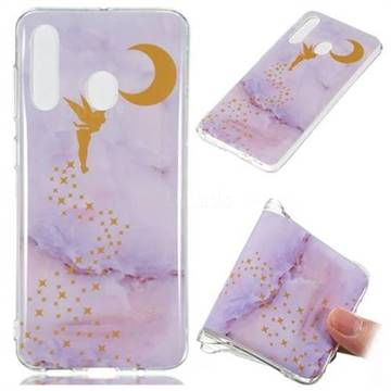 Elf Purple Soft TPU Marble Pattern Phone Case for Samsung Galaxy A60