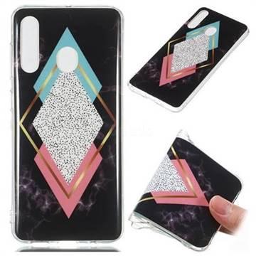 Black Diamond Soft TPU Marble Pattern Phone Case for Samsung Galaxy A60