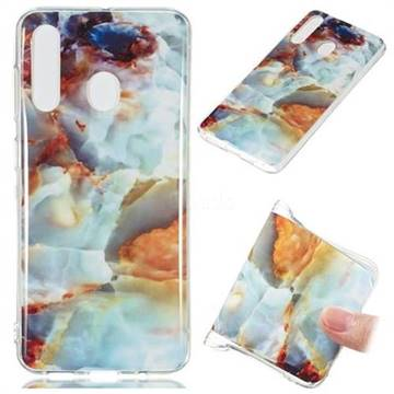 Fire Cloud Soft TPU Marble Pattern Phone Case for Samsung Galaxy A60
