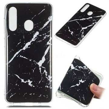 Black Rough white Soft TPU Marble Pattern Phone Case for Samsung Galaxy A60