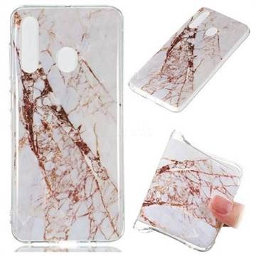 White Crushed Soft TPU Marble Pattern Phone Case for Samsung Galaxy A60