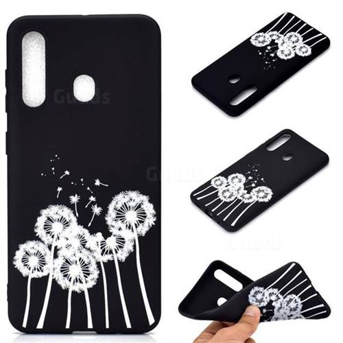 Dandelion Chalk Drawing Matte Black TPU Phone Cover for Samsung Galaxy A60