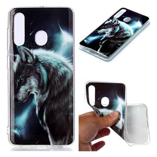 Fierce Wolf Soft TPU Cell Phone Back Cover for Samsung Galaxy A60