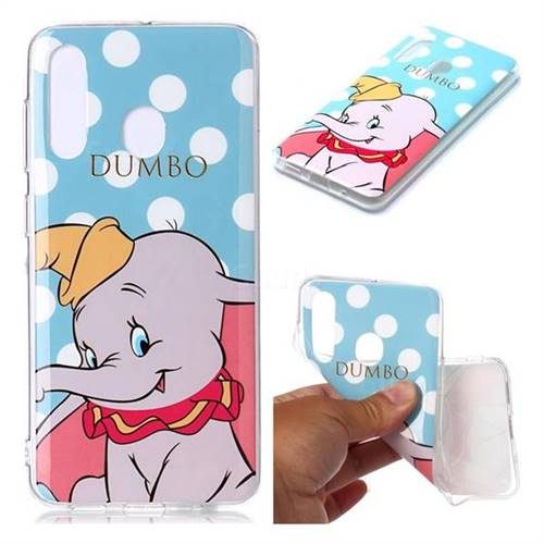Dumbo Elephant Soft TPU Cell Phone Back Cover for Samsung Galaxy A60