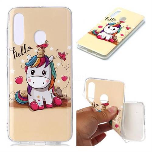 Hello Unicorn Soft TPU Cell Phone Back Cover for Samsung Galaxy A60