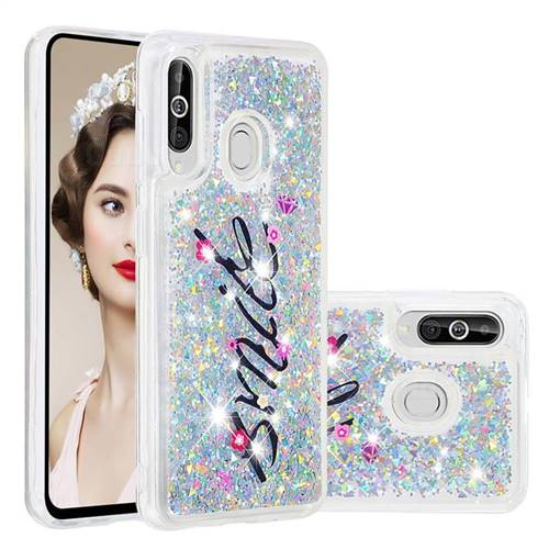 Smile Flower Dynamic Liquid Glitter Quicksand Soft TPU Case for Samsung Galaxy A60