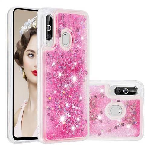 Dynamic Liquid Glitter Quicksand Sequins TPU Phone Case for Samsung Galaxy A60 - Rose