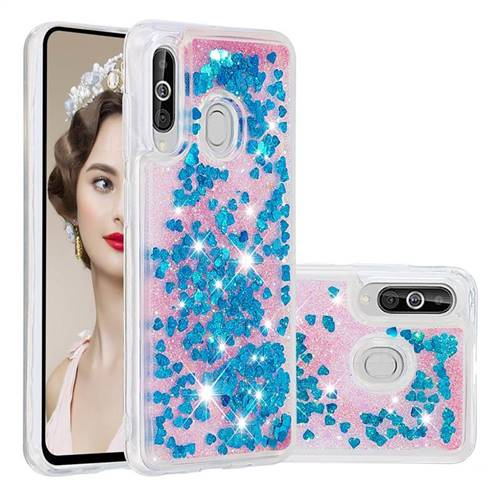 Dynamic Liquid Glitter Quicksand Sequins TPU Phone Case for Samsung Galaxy A60 - Blue