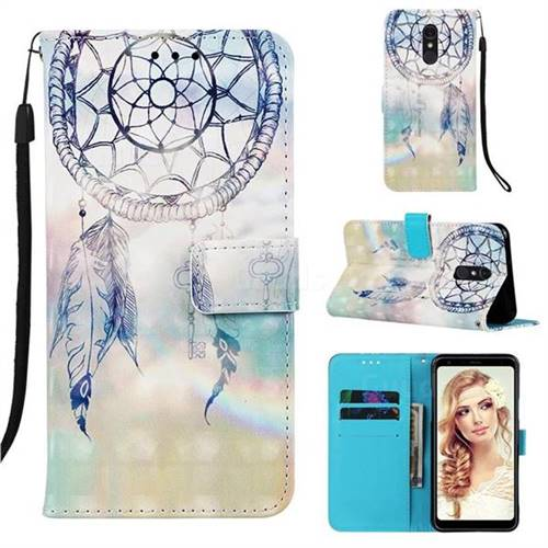 Fantasy Campanula 3D Painted Leather Wallet Case for Samsung Galaxy A60