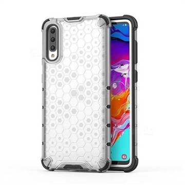 Honeycomb TPU + PC Hybrid Armor Shockproof Case Cover for Samsung Galaxy A70 - Transparent