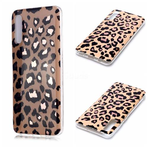 Leopard Galvanized Rose Gold Marble Phone Back Cover for Samsung Galaxy A70