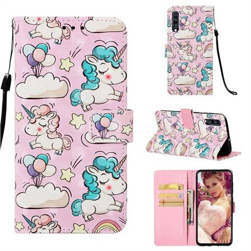 Angel Pony 3D Painted Leather Wallet Case for Samsung Galaxy A70