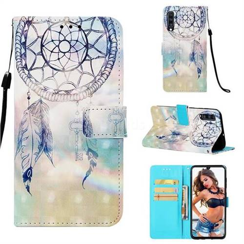 Fantasy Campanula 3D Painted Leather Wallet Case for Samsung Galaxy A70