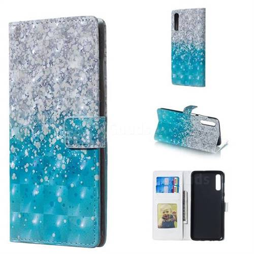 Sea Sand 3D Painted Leather Phone Wallet Case for Samsung Galaxy A70