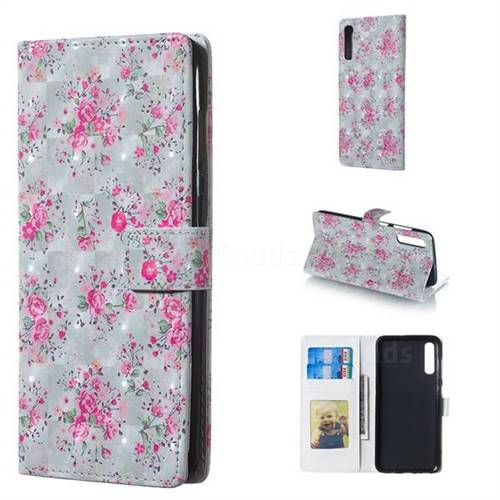 Roses Flower 3D Painted Leather Phone Wallet Case for Samsung Galaxy A70