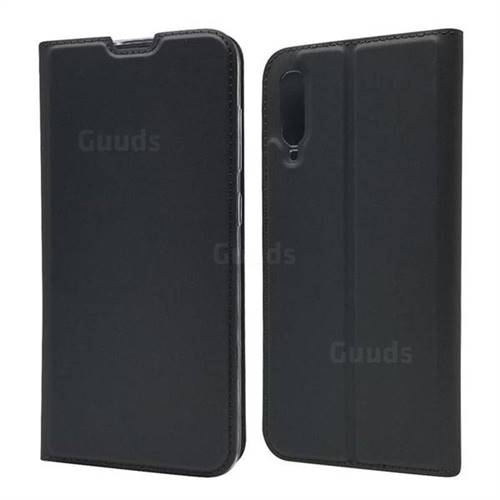 Ultra Slim Card Magnetic Automatic Suction Leather Wallet Case for Samsung Galaxy A70 - Star Grey