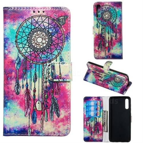 Butterfly Chimes PU Leather Wallet Case for Samsung Galaxy A70