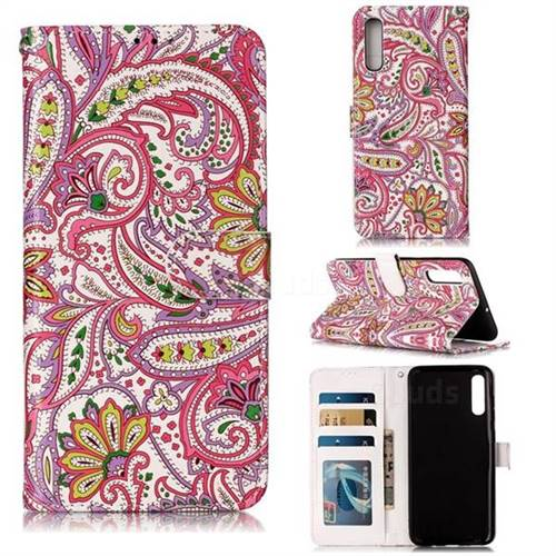 Pepper Flowers 3D Relief Oil PU Leather Wallet Case for Samsung Galaxy A70