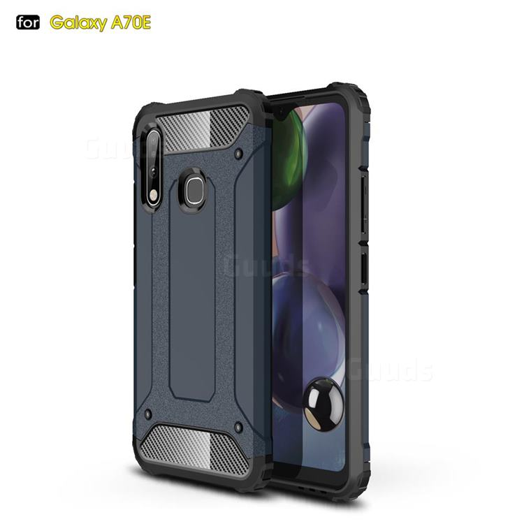 King Kong Armor Premium Shockproof Dual Layer Rugged Hard Cover for Samsung Galaxy A70e - Navy