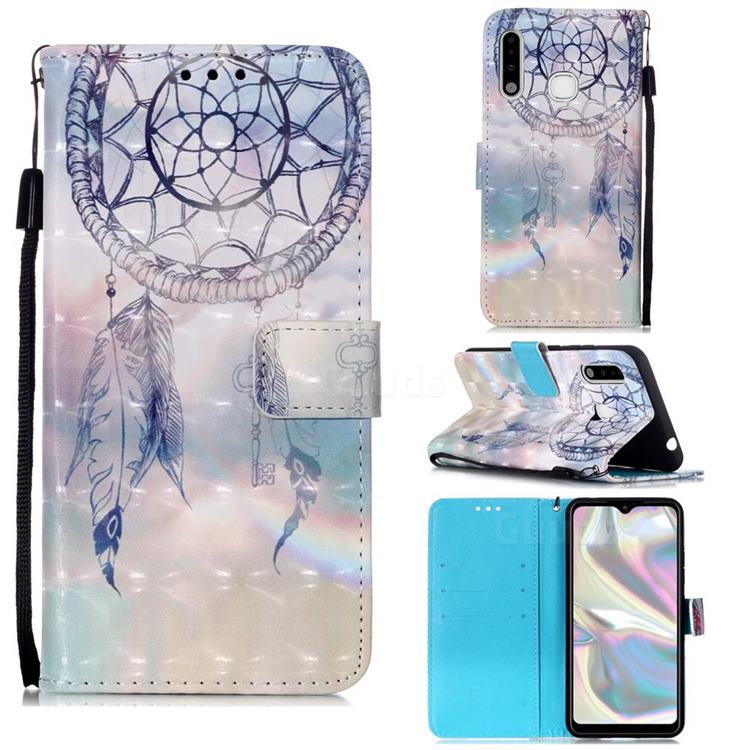 Fantasy Campanula 3D Painted Leather Wallet Case for Samsung Galaxy A70e