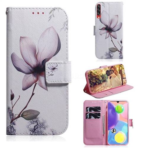 Magnolia Flower PU Leather Wallet Case for Samsung Galaxy A70s