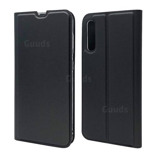 Ultra Slim Card Magnetic Automatic Suction Leather Wallet Case for Samsung Galaxy A70s - Star Grey