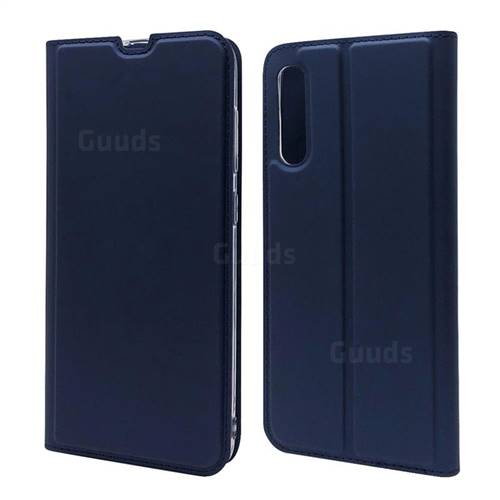 Ultra Slim Card Magnetic Automatic Suction Leather Wallet Case for Samsung Galaxy A70s - Royal Blue