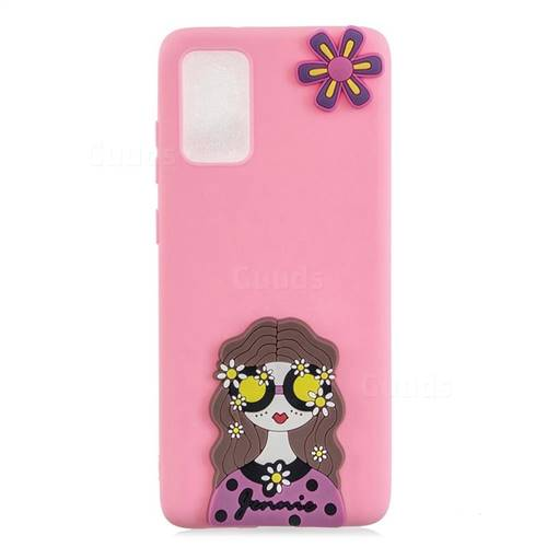 Violet Girl Soft 3D Silicone Case for Samsung Galaxy A71