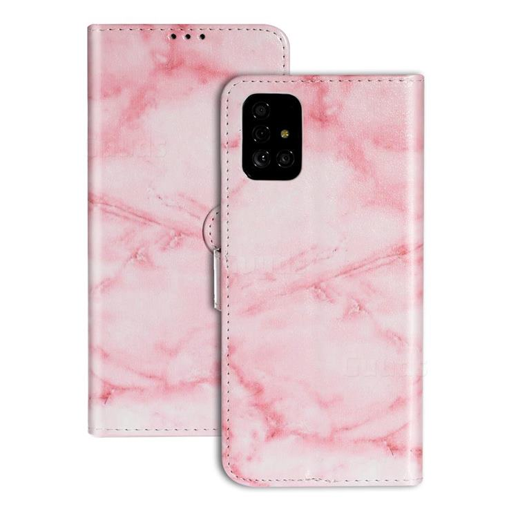 Pink Marble PU Leather Wallet Case for Samsung Galaxy A71